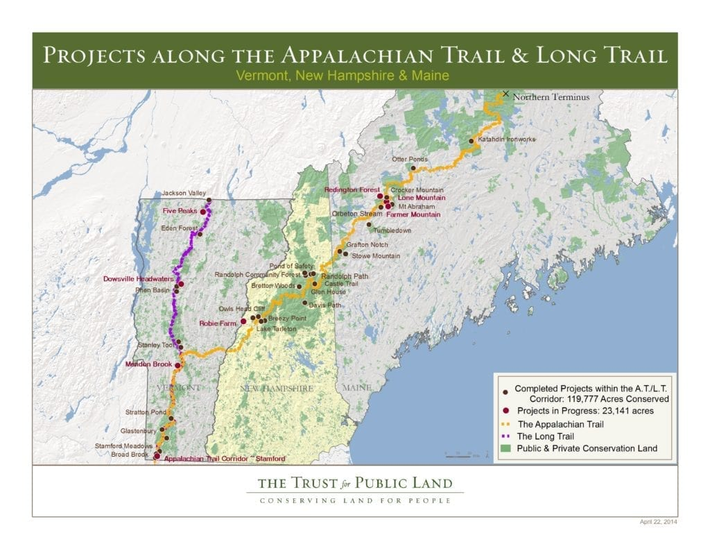 Appalachian Trail New England Map.The Appalachian Trail At Untamed Mainer