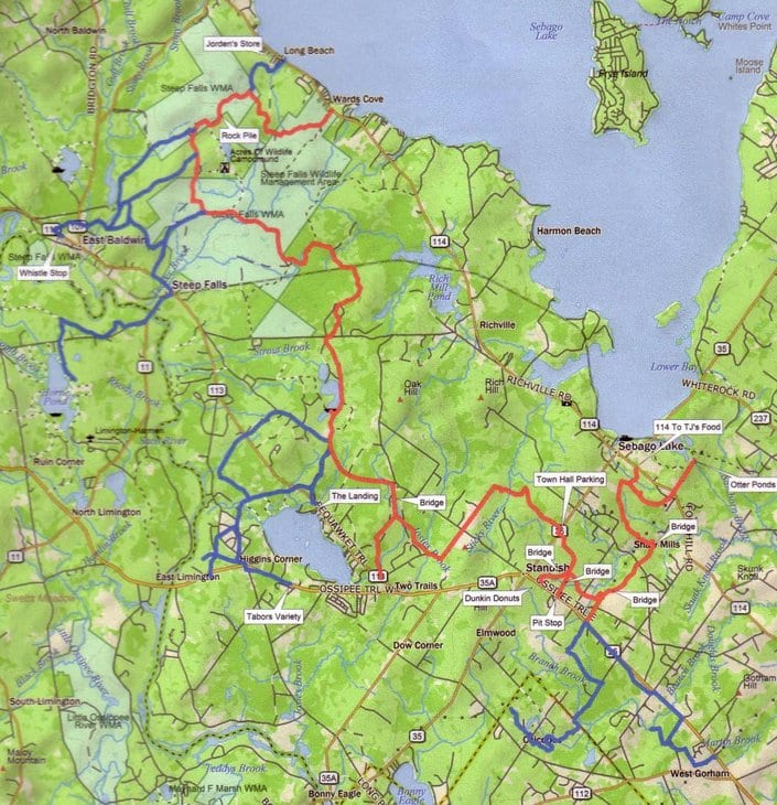 Maine ATV Dirtbike Trail Maps UNTAMED Mainer - Map maine