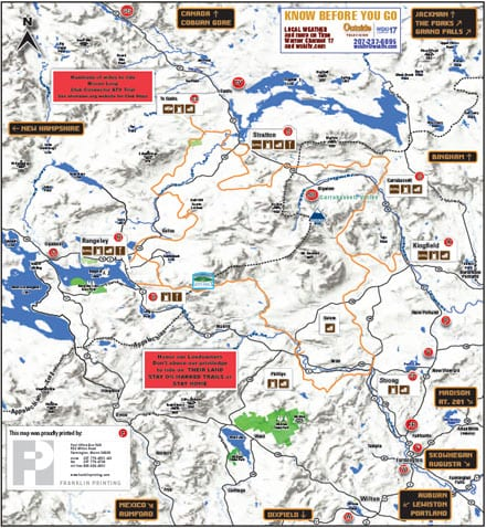 maine snowmobile trail map with Maine Atv Dirtbike Trail Maps on Great North Woods furthermore Nh Atv Trail Map also Hiking In Maine Little Kineo Little likewise  besides Katahdin Hiking Cathedraltrail.