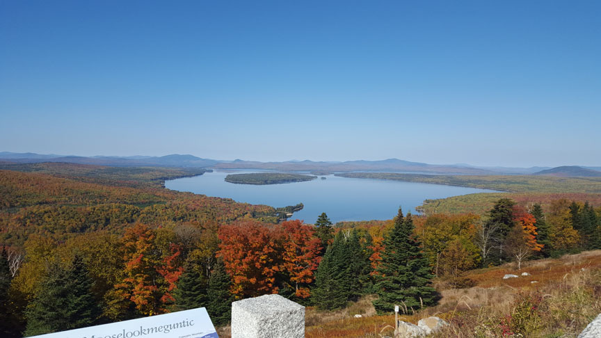 Height of Land, Rangeley Lakes National Scenic Byway, Maine.