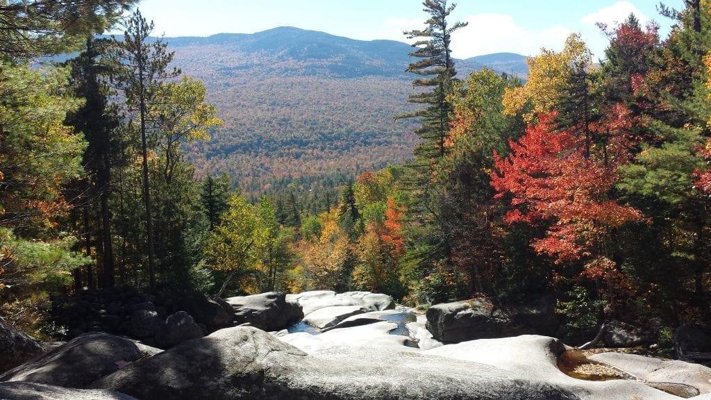 Fall in Maine: Step Falls near Grafton Notch.